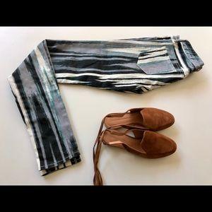 Armani Exchange (A/X) striped jeans in size 0.